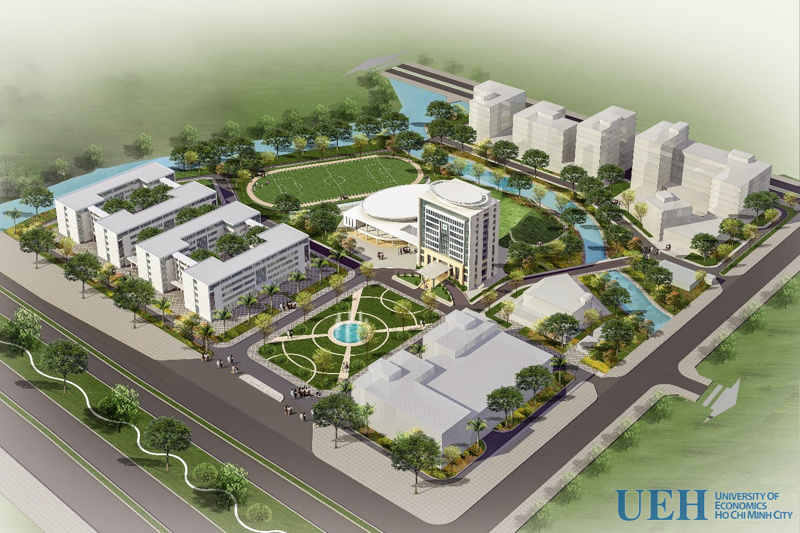 Phối cảnh dự án Đại học Kinh Tế TP.HCM cơ sở Nam Sài Gòn