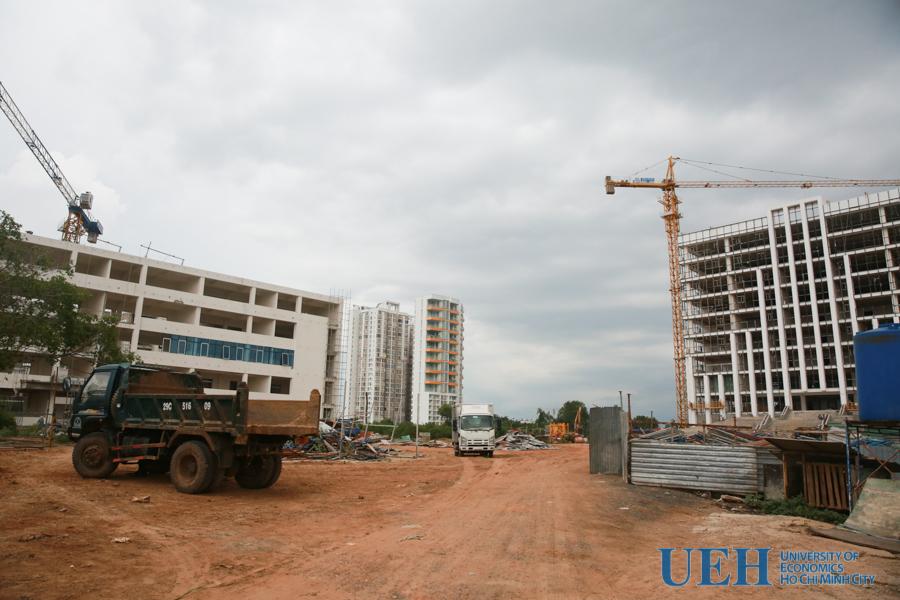 Tiến độ xây dựng dự án Đại học Kinh tế TP.HCM cơ sở phía Nam Sài Gòn tháng 07/2019